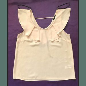 Forever 21 Women's Ruffle To Blouse Size S Beige